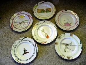 6 très grandes assiettes de Présentation