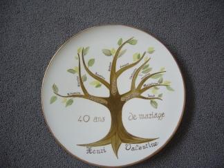 L'arbre final en entier Finitions exemplaires et dorures
