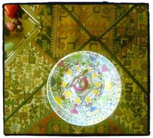 Vue sur un tapis de Damas