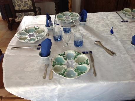 toutes différentes : bleu turquoise, émeraude; vert empire, céladon