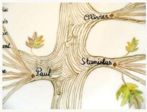 Tronc Arbre et Branches à la plume