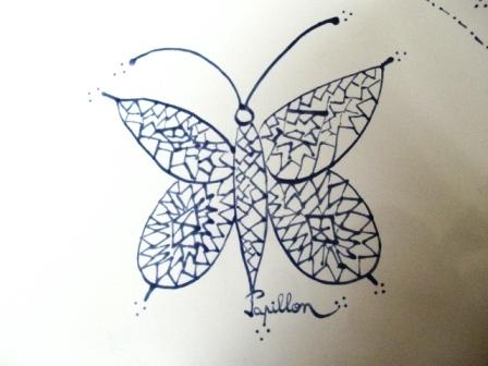 le papillon du plat