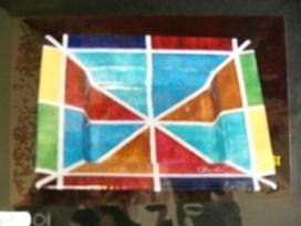 Triangles et rectangles dans un carré profond