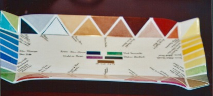 Palette couleurs triangulaires